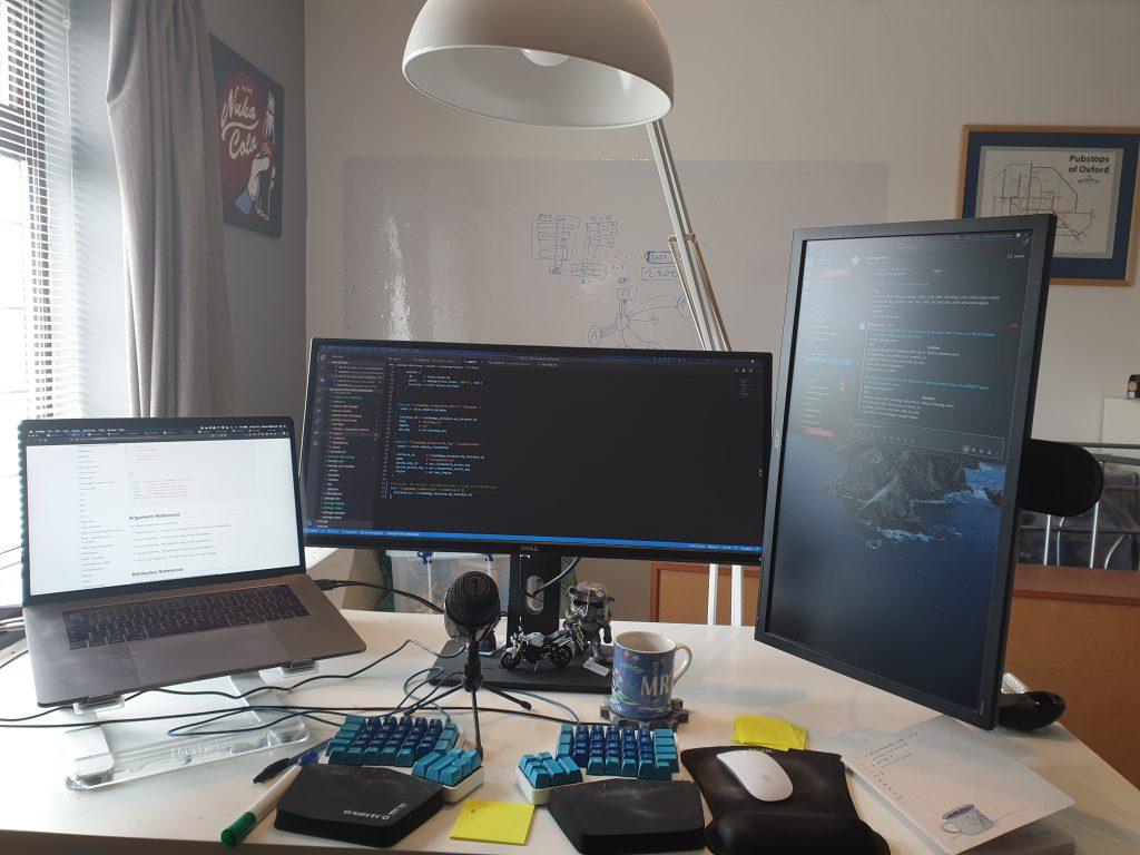 Steve's home desk