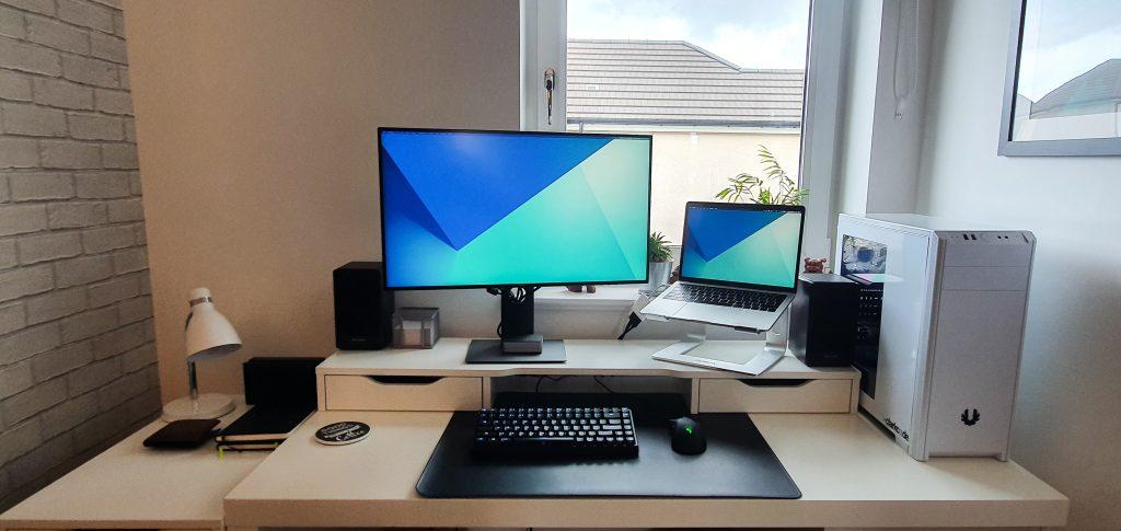 Scott's home desk