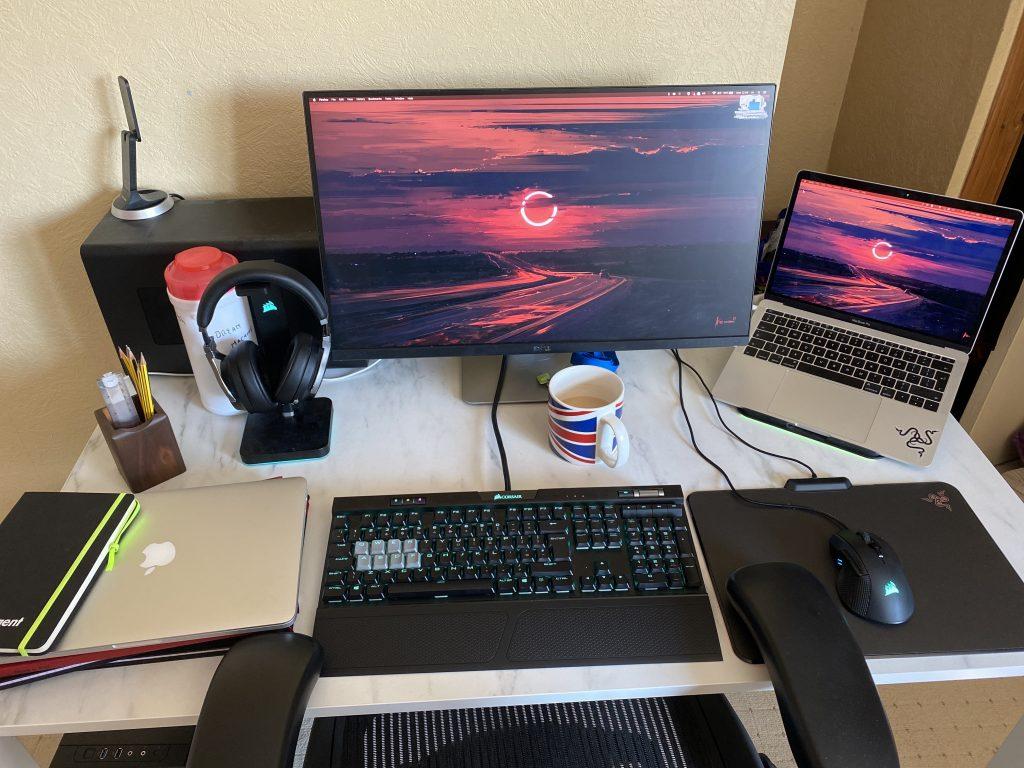 Hamish' home desk