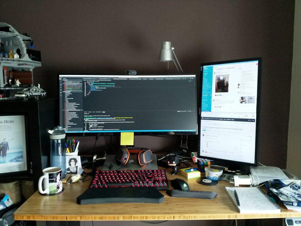 Colin's home desk