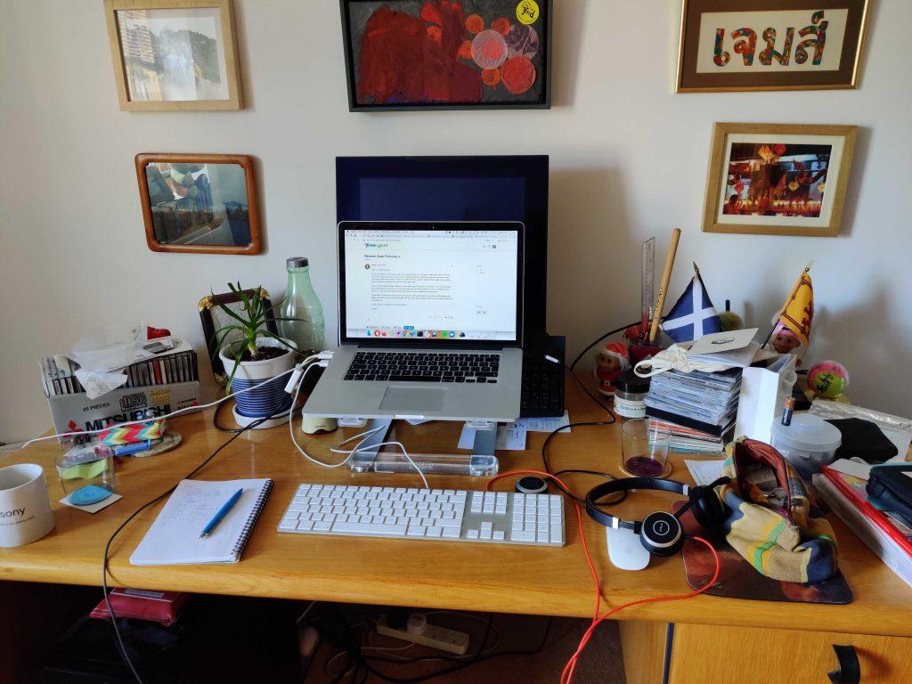 James home desk setup