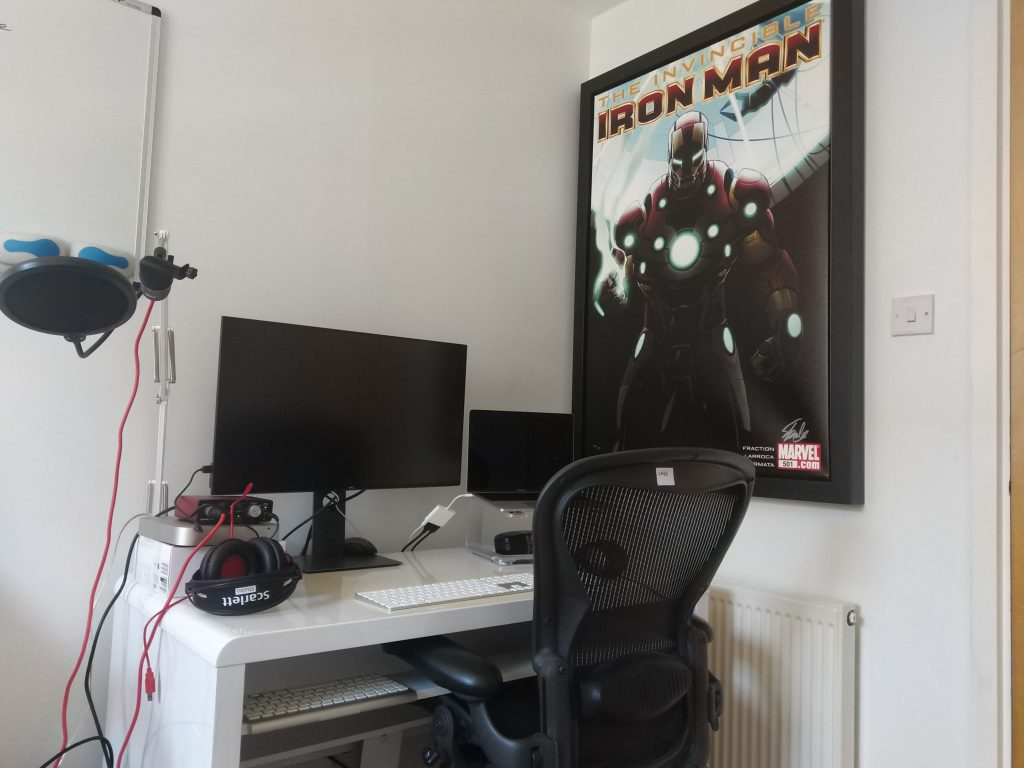 Kevin's home desk