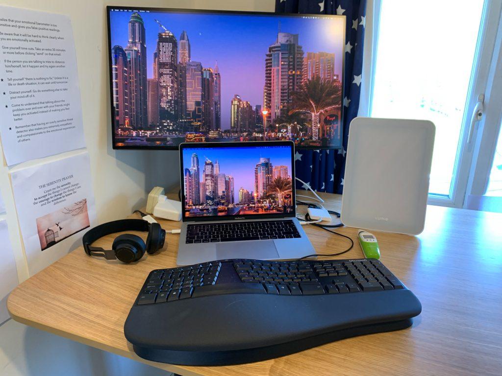 Iain's home desk