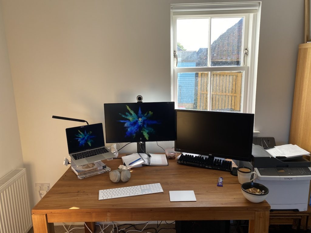 Patrick's home desk